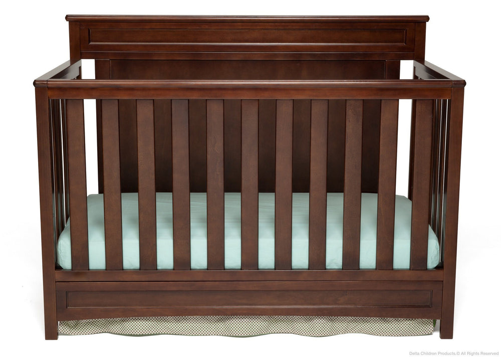 Delta Children Dark Chocolate (207) Princeton 4-in-1 Crib, Crib Conversion c1c