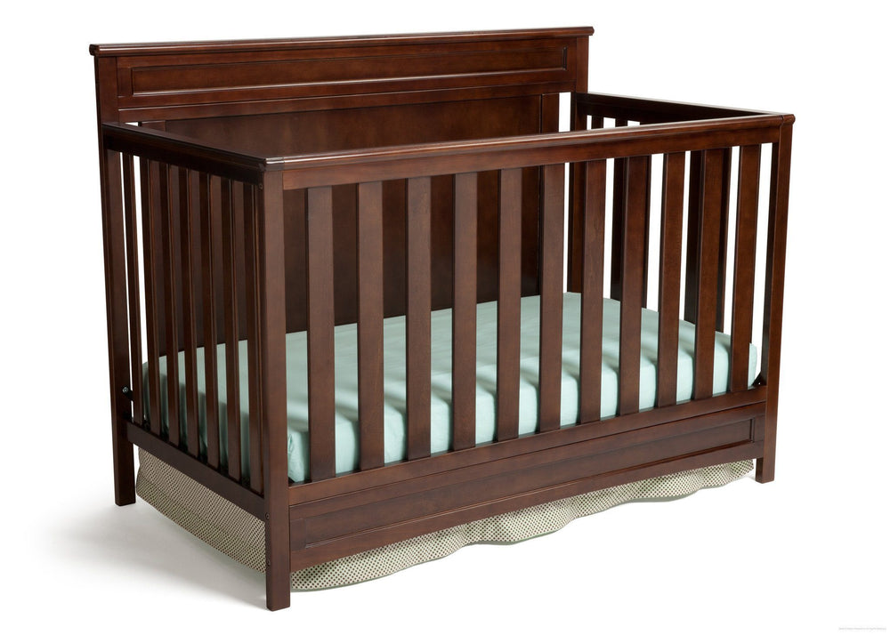 Delta Children Dark Chocolate (207) Princeton 4-in-1 Crib, Crib Conversion c2c