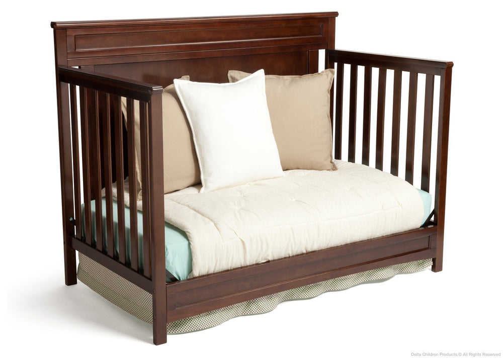 Delta Children Dark Chocolate (207) Princeton 4-in-1 Crib, Day Bed Conversion c4c