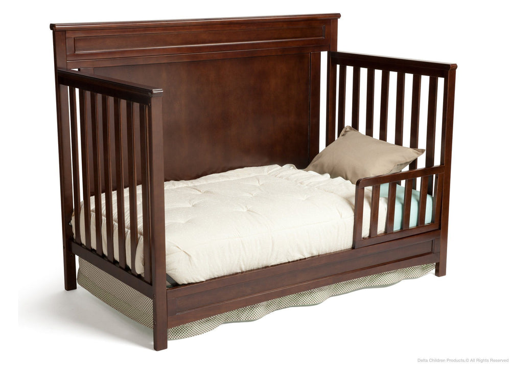 Delta Children Dark Chocolate (207) Princeton 4-in-1 Crib, Toddler Bed Conversion c3c