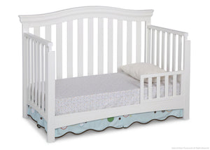 Delta Children White Ambiance (108) Bennington Curved 4-in-1 Crib Toddler Bed Conversion a3a