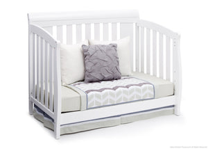 Delta Children Bianca White (130) Clermont 4-in-1 Crib, Day Bed Conversion a4a
