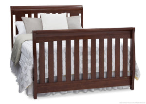 Delta Children Chocolate (204) Clermont 4-in-1 Crib, Full-Size Bed Conversion b5b