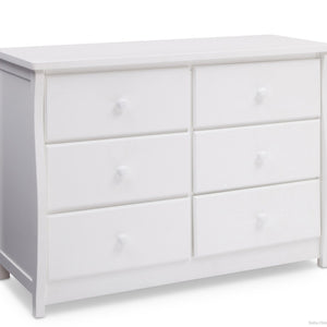 Delta Children Bianca (130) Clermont 6 Drawer Dresser, Side View a1a