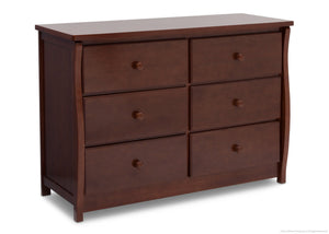 Delta Children Chocolate (204) Clermont 6 Drawer Dresser, Side View b2b