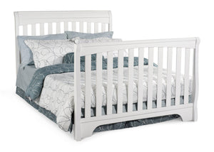 Delta Childrens White (100) Eclipse 4-in-1 Full Bed Conversion a5a