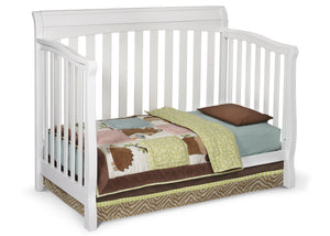 Delta Childrens White (100) Eclipse 4-in-1 Toddler Bed Conversion a3a