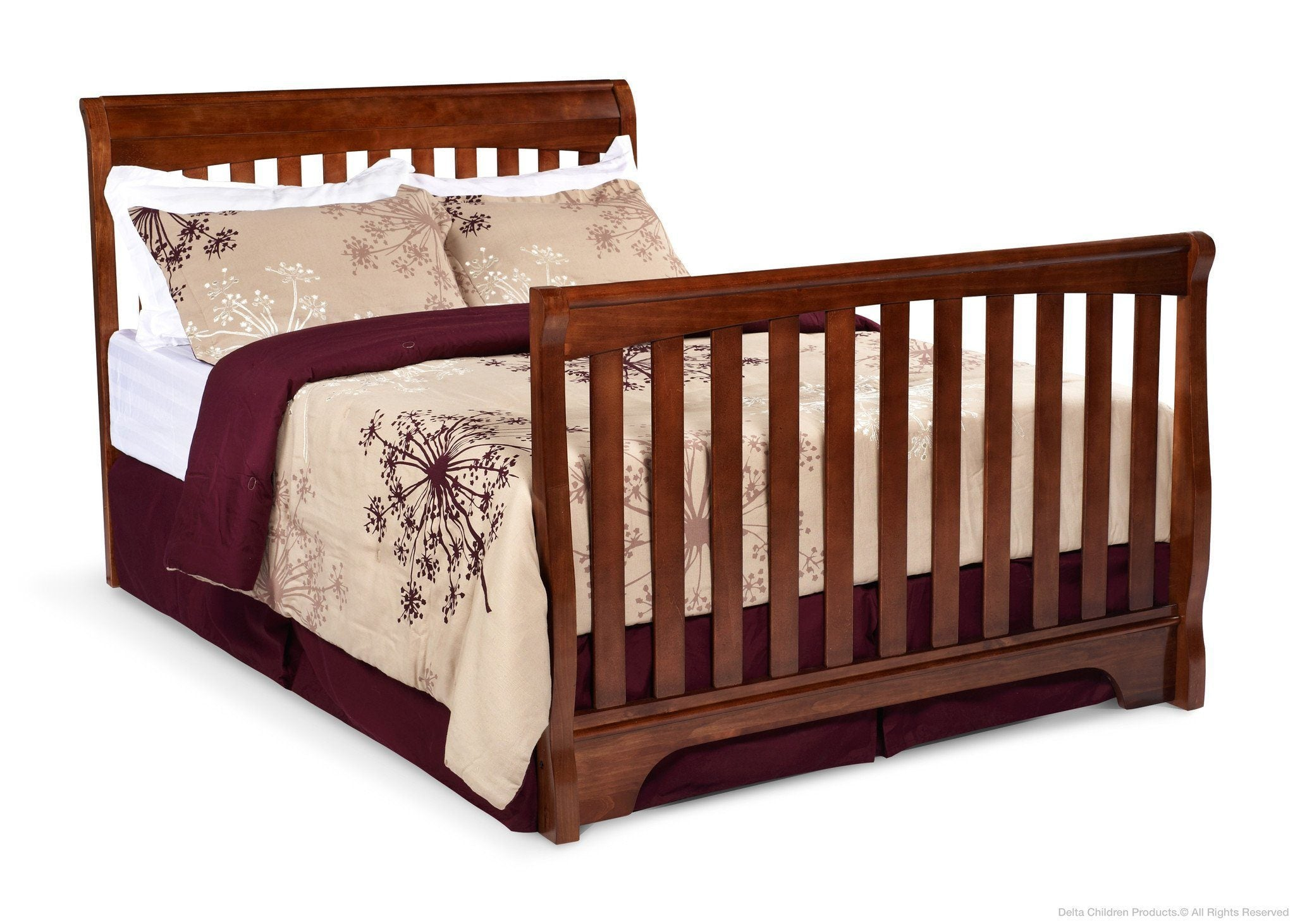 Delta Childrens Spiced Cinnamon (209) Eclipse 4-in-1 Full Bed Conversion b4b