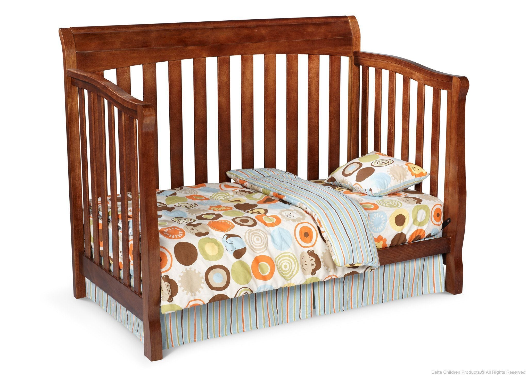 Delta Childrens Spiced Cinnamon (209) Eclipse 4-in-1 Toddler Bed Conversion b2b
