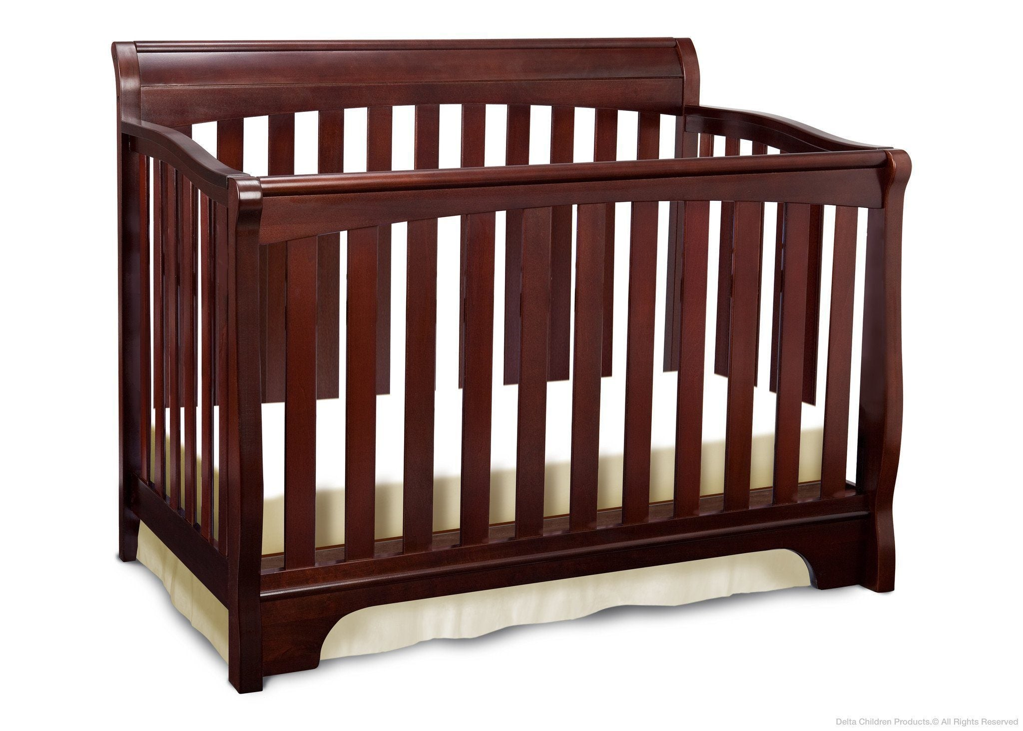 Delta Childrens Black Cherry Espresso (607) Eclipse 4-in-1 Crib c2c