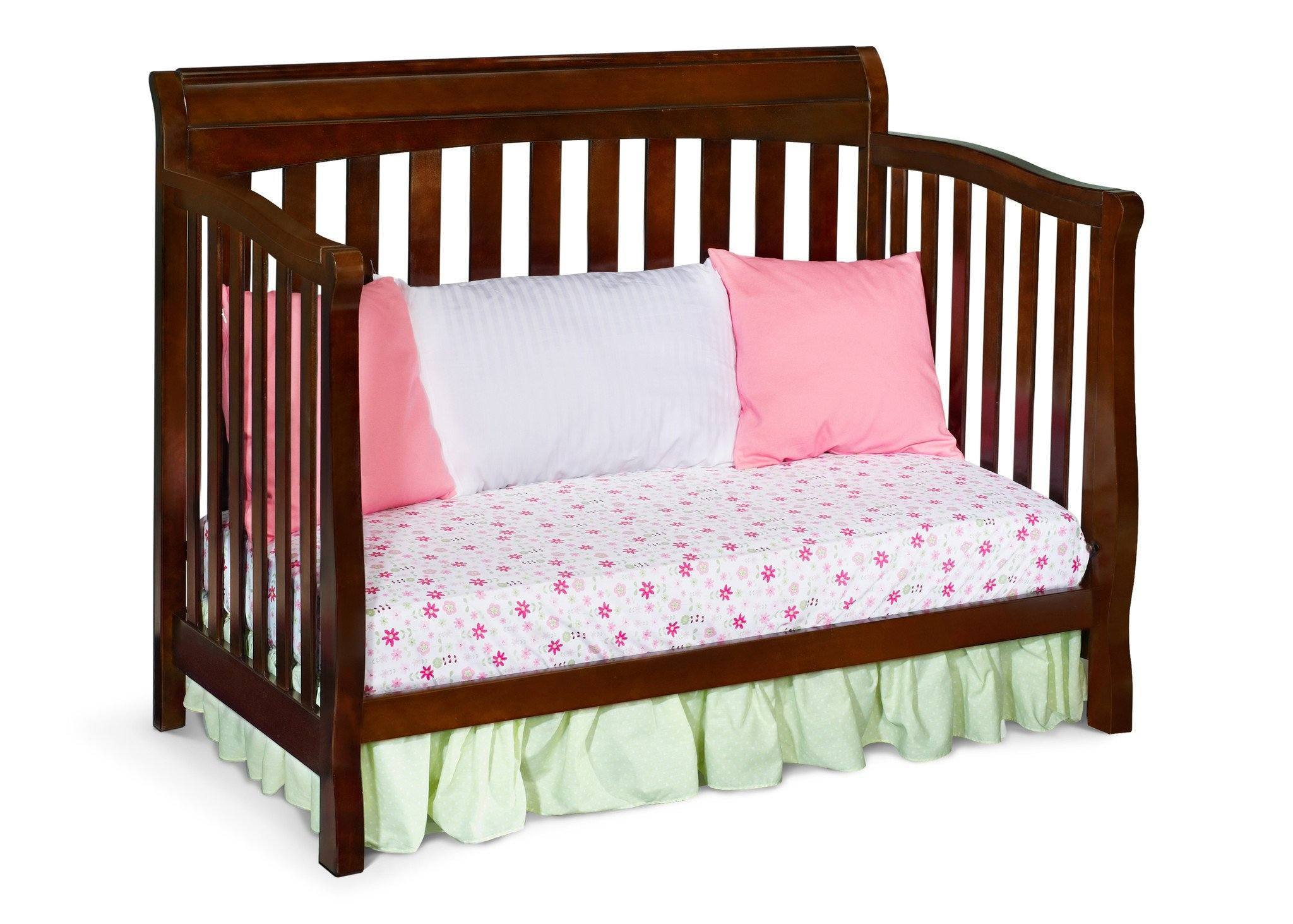 Delta Childrens Black Cherry Espresso (607) Eclipse 4-in-1 Day Bed Conversion c5c