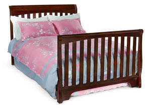 Delta Childrens Black Cherry Espresso (607) Eclipse 4-in-1 Full Bed Conversion c6c