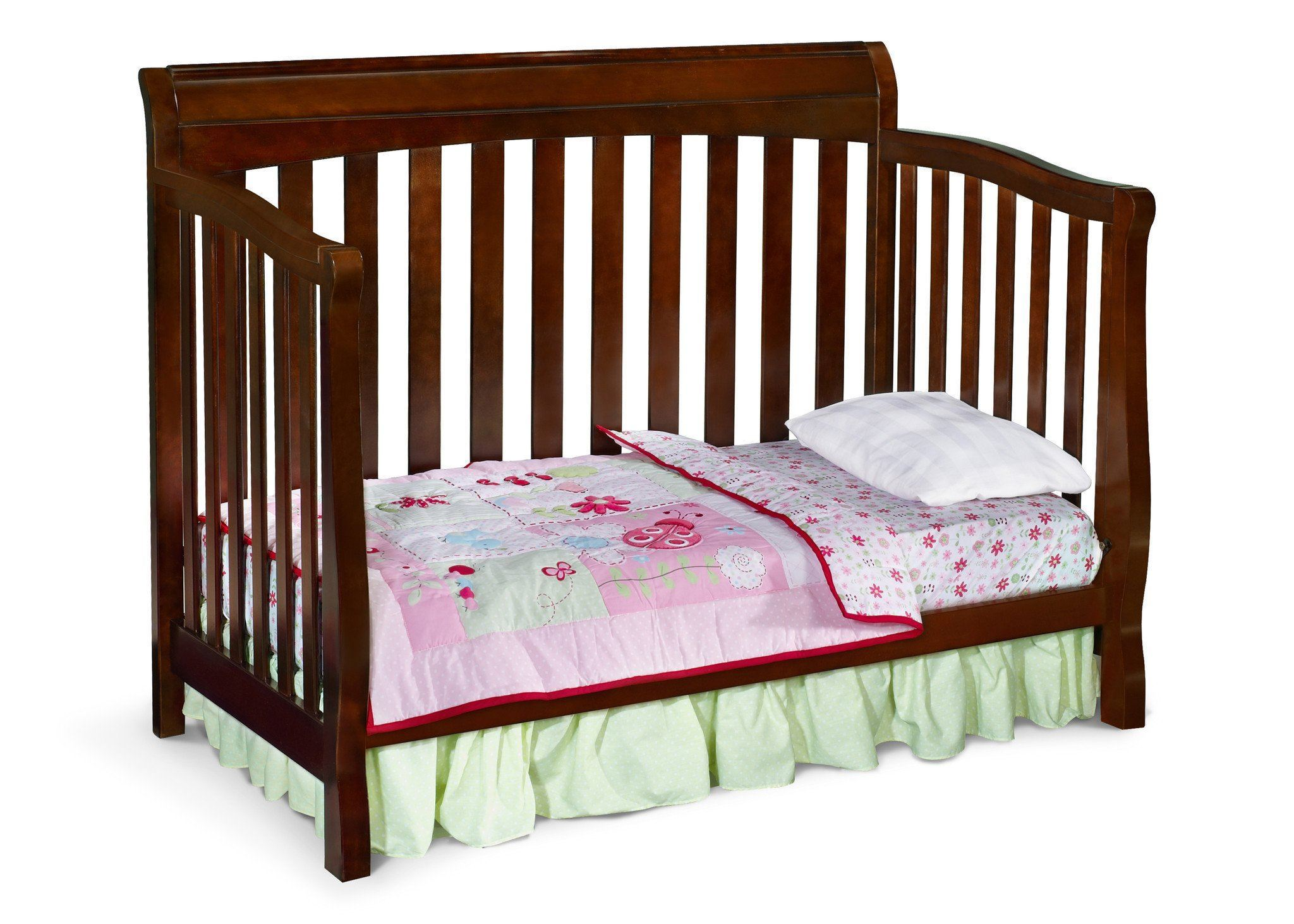 Delta Childrens Black Cherry Espresso (607) Eclipse 4-in-1 Toddler Bed Conversion c4c
