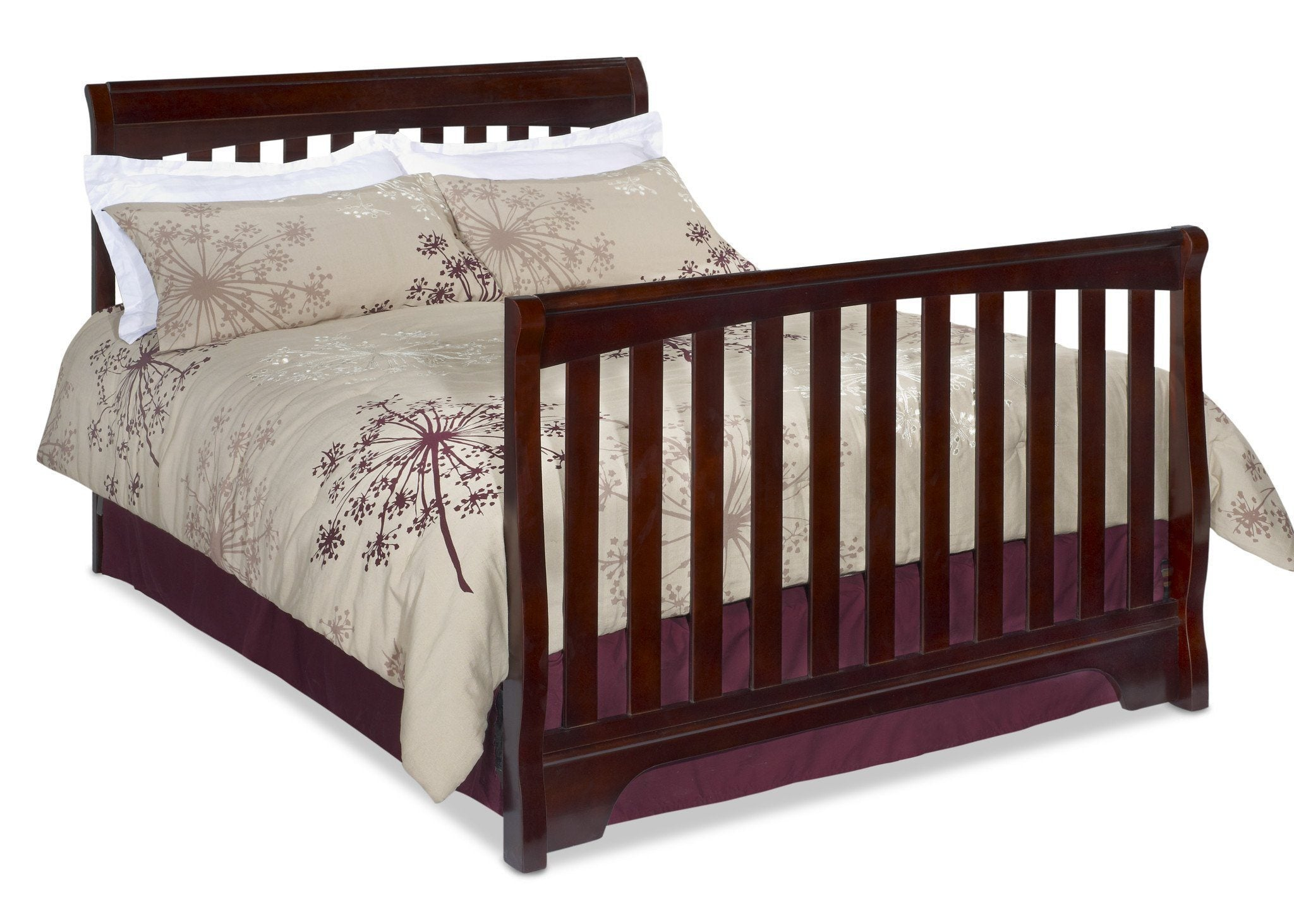 Delta Childrens Vintage Espresso (616) Eclipse 4-in-1 Full Bed Conversion Right View d4d