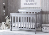 Delta Children Grey (026) Canton 4-in-1 Crib, Crib View, e1e