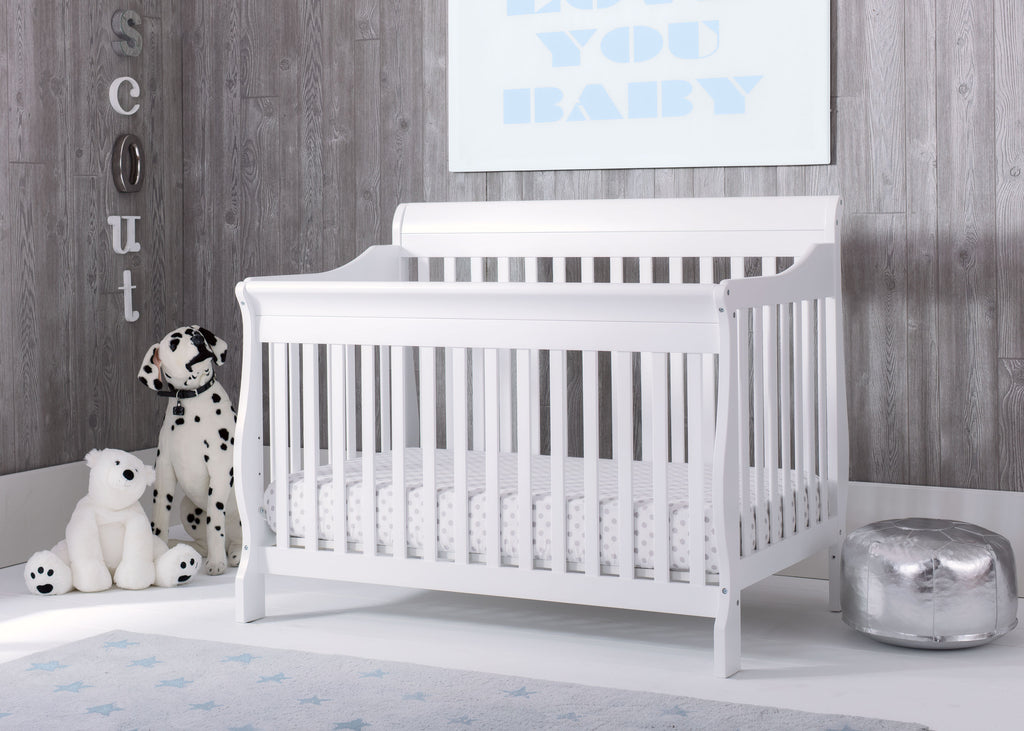 Canton 4-in-1 Crib (Bianca) - bundle