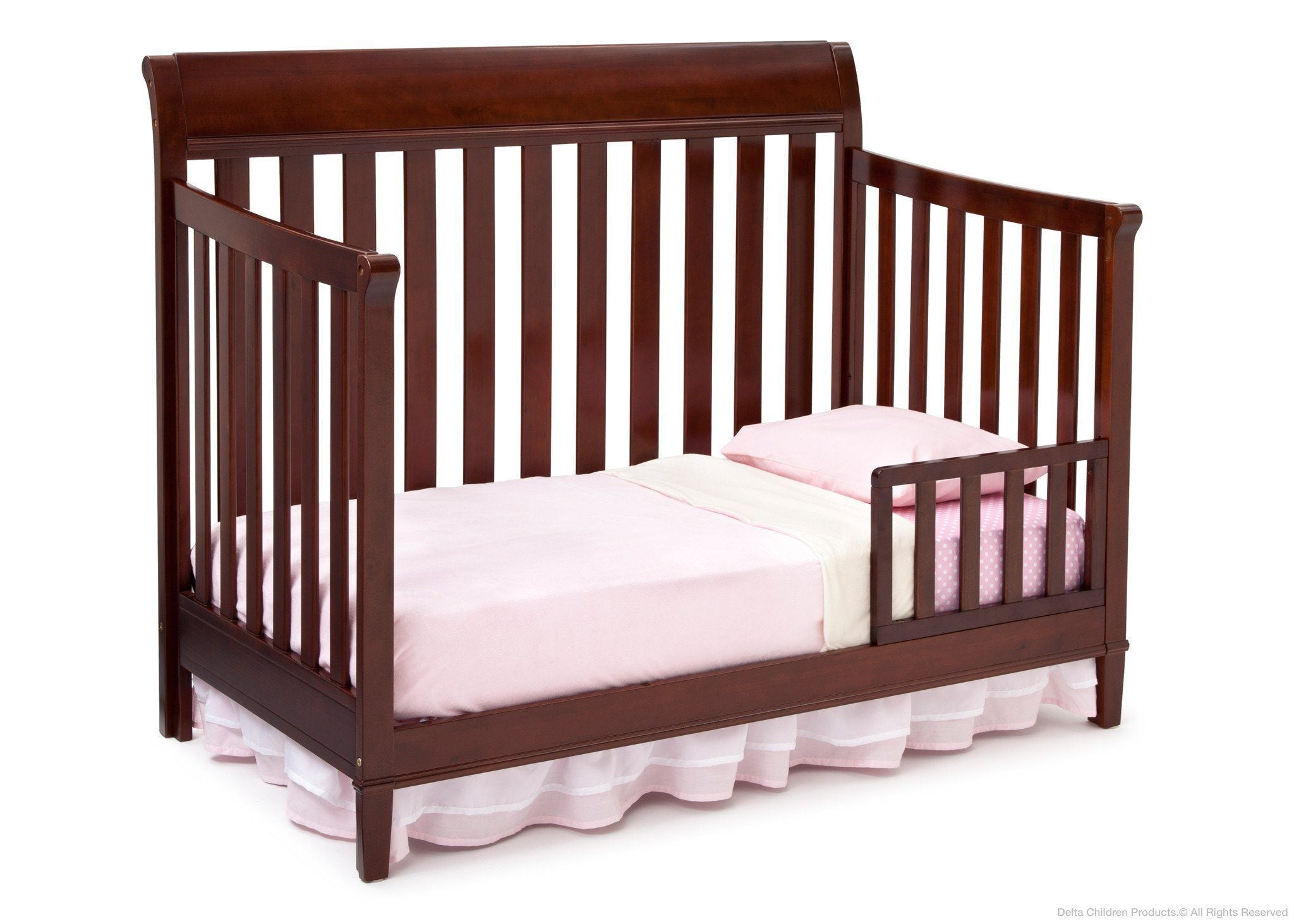 p rail front crib in louis w manor grey twinkle toddler convertible