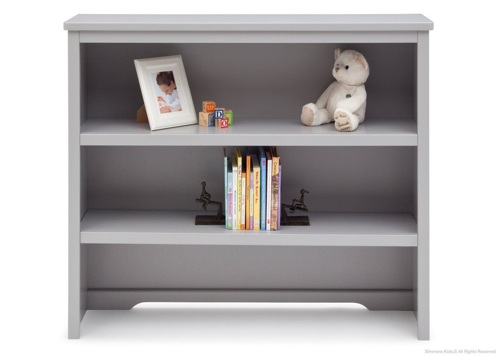Simmons Kids Grey (026) Rowen Bookcase & Hutch atop Base with Props a2a