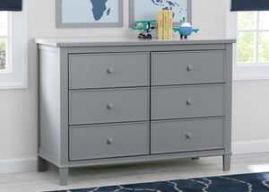 Delta Children Grey (026) Haven 6 Drawer Dresser, Hangtag View