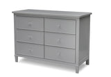 Delta Children Grey (026) Haven 6 Drawer Dresser, Left Silo View