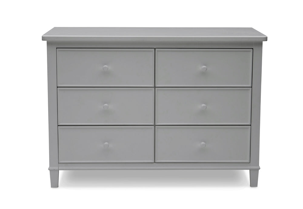 Delta Children Grey (026) Haven 6 Drawer Dresser, Front Silo View