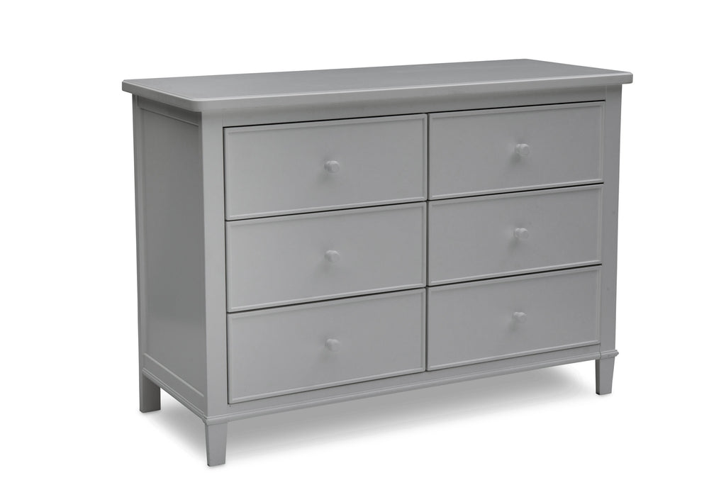 Delta Children Grey (026) Haven 6 Drawer Dresser, Right Silo View