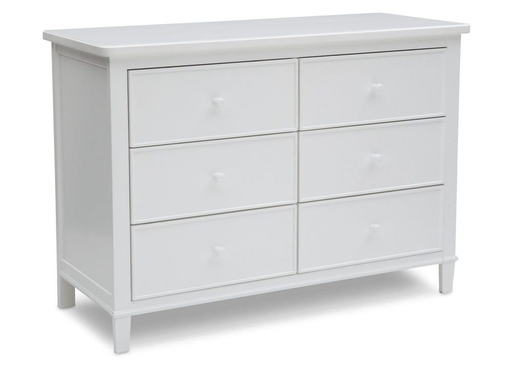 Delta Children White (100) Haven 6 Drawer Dresser, Right Silo View