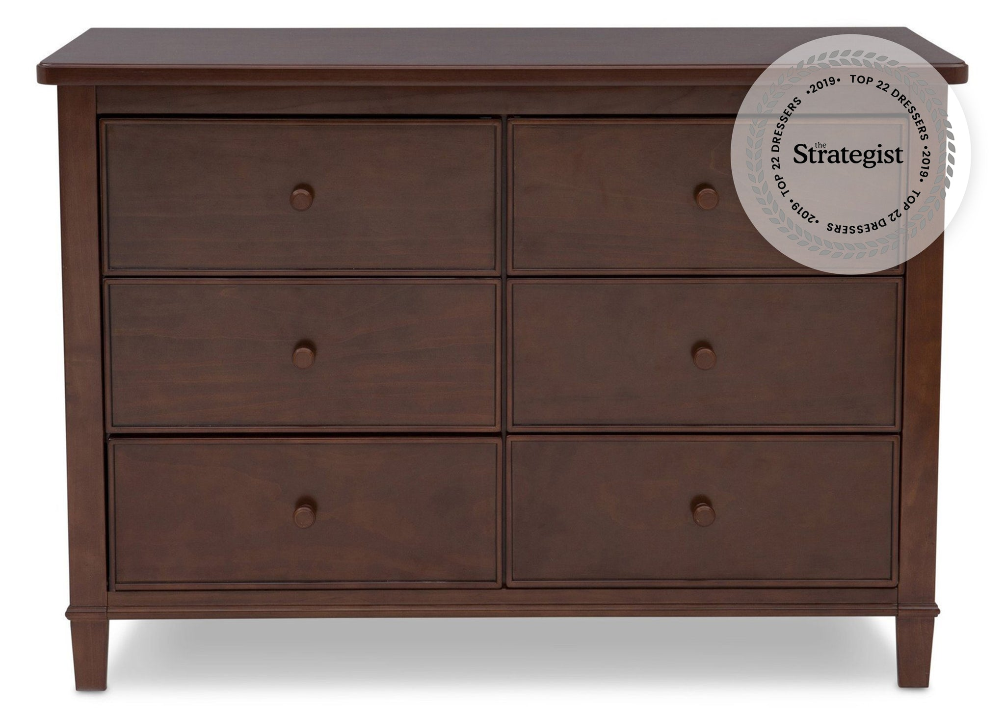 Delta Children Espresso Truffle (208) Haven 6 Drawer Dresser Front Silo View