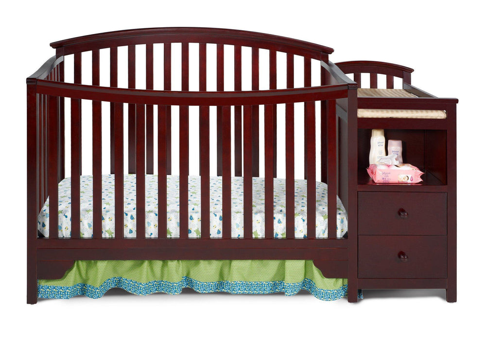 Delta Children Espresso Cherry (205) Sonoma Crib 'N' Changer, Crib Conversion Front View a1a