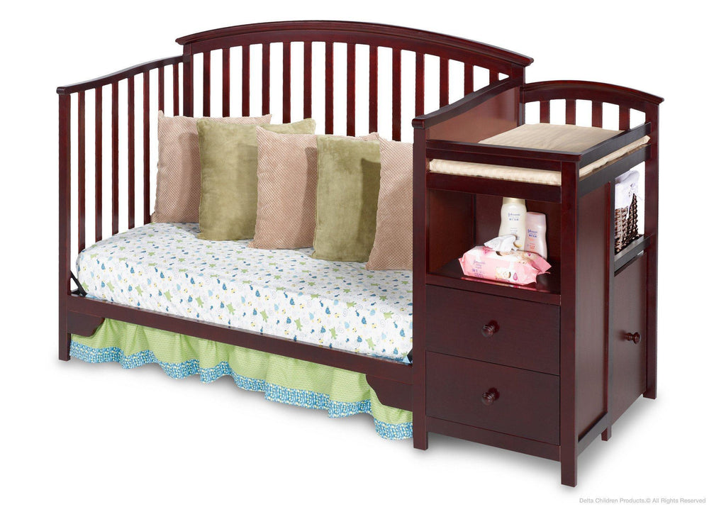 Delta Children Espresso Cherry (205) Sonoma Crib 'N' Changer, Day Bed Conversion a4a