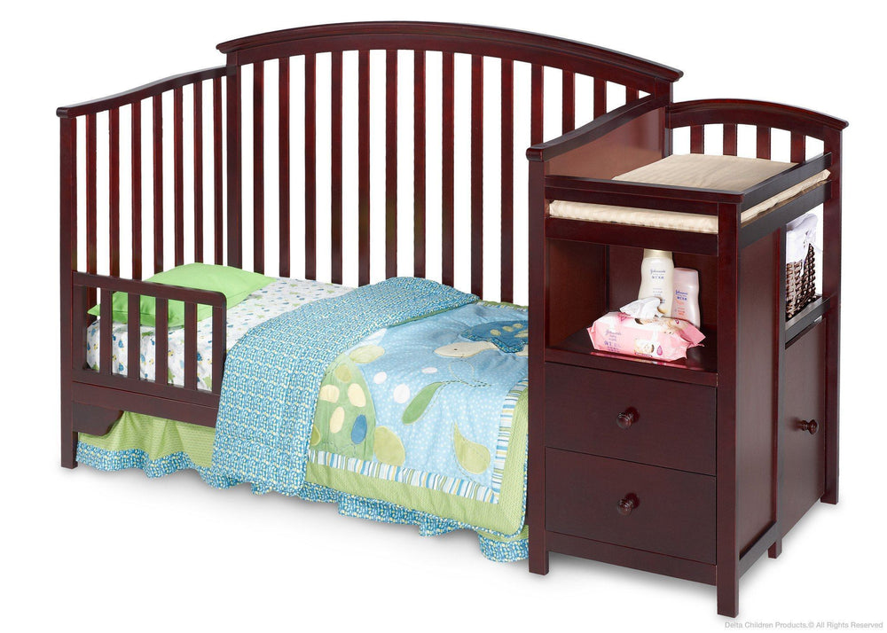 Delta Children Espresso Cherry (205) Sonoma Crib 'N' Changer, Toddler Bed Conversion a3a