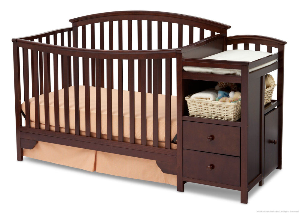 Delta Children Black Cherry Espresso (607) Sonoma Crib 'N' Changer, Crib Conversion b3b