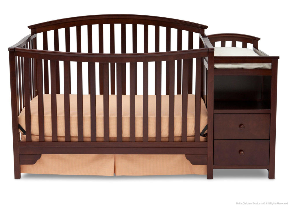 Delta Children Black Cherry Espresso (607) Sonoma Crib 'N' Changer, Crib Conversion b2b