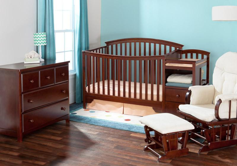 Delta Children Black Cherry Espresso (607) Sonoma Crib 'N' Changer in Setting b1b