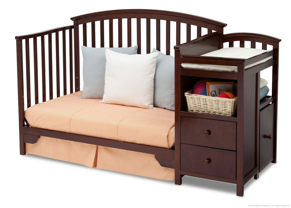 Delta Children Black Cherry Espresso (607) Sonoma Crib 'N' Changer, Day Bed Conversion b5b