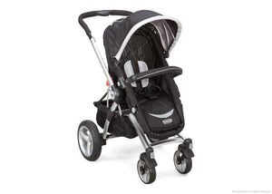 Simmons Kids Black with Silver Trim (014) Comfort Tech Tour Buggy Stroller, Right View b1b