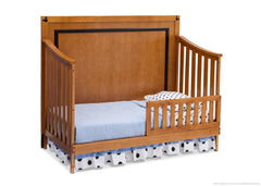 Delta Children Honey / Black (925) Disney Mickey Icon 4-in-1 Crib, Toddler Bed Conversion with Toddler Guardrail a4a