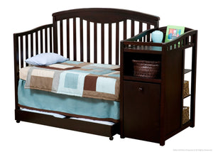 Delta Children Espresso Cherry (205) Cambridge Crib 'N' Changer, Toddler Bed Conversion a3a