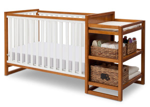 Delta Children Warm Honey / White (2053) Gramercy Crib 'N' Changer, Crib Conversion a4a