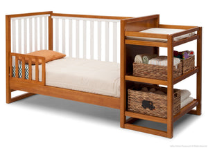 Delta Children Warm Honey / White (2053) Gramercy Crib 'N' Changer, Toddler Bed Conversion Option 1 a5a