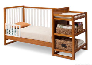 Delta Children Warm Honey / White (2053) Gramercy Crib 'N' Changer, Toddler Bed Conversion Option 2 a6a