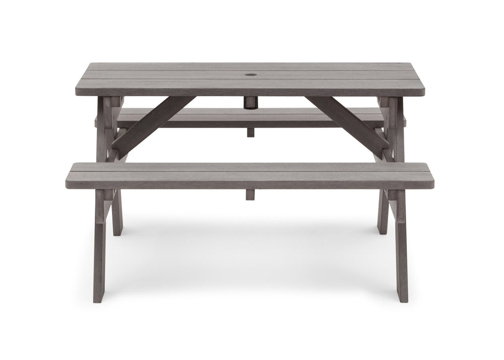 Delta Children Stone Grey (3002) Child's Picnic Table Front View b2b