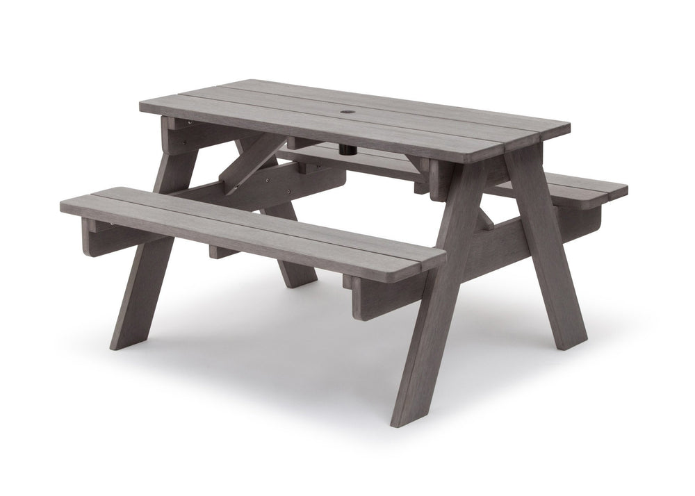Delta Children Stone Grey (3002) Child's Picnic Table Left Side View b4b
