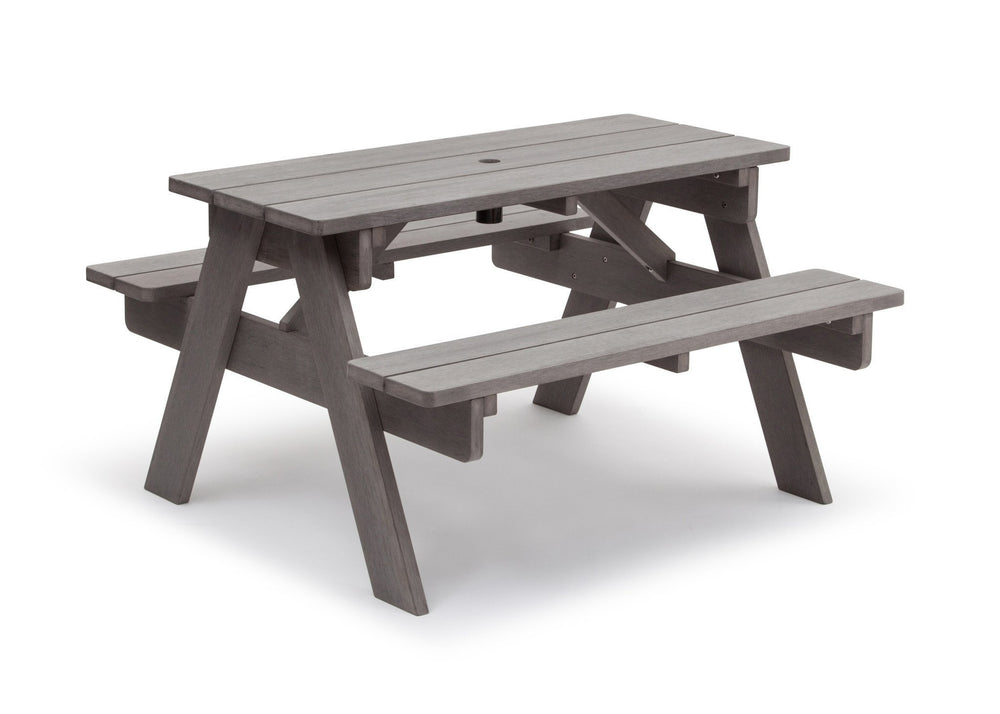 Delta Children Stone Grey (3002) Child's Picnic Table Right Side View b3b