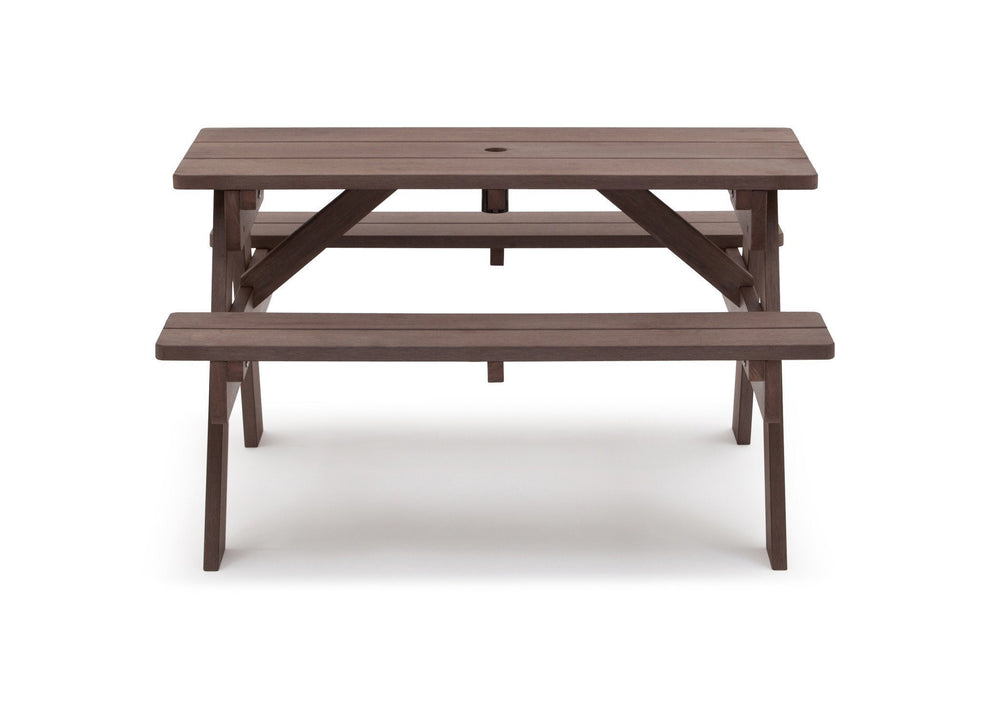 Delta Children Dark Coffee (3001) Child's Picnic Table Front View a2a