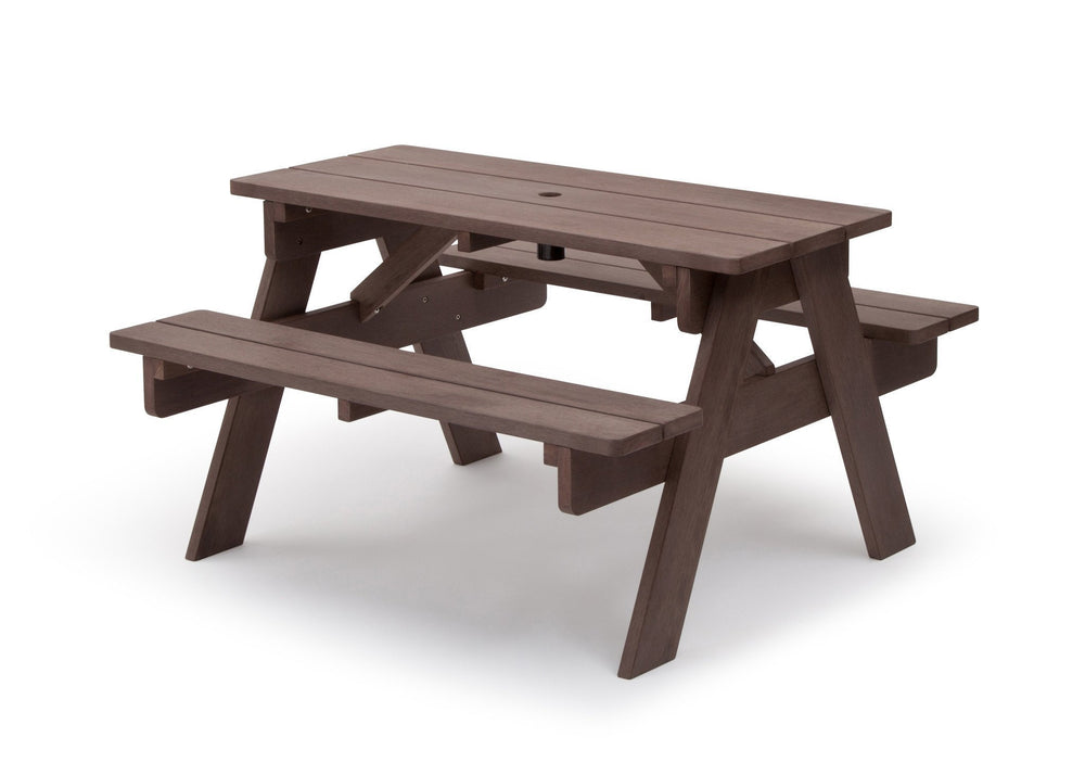 Delta Children Dark Coffee (3001) Child's Picnic Table Left Side View a4a