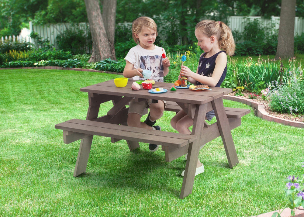 Delta Children Dark Coffee (3001) Child's Picnic Table in Setting a1a