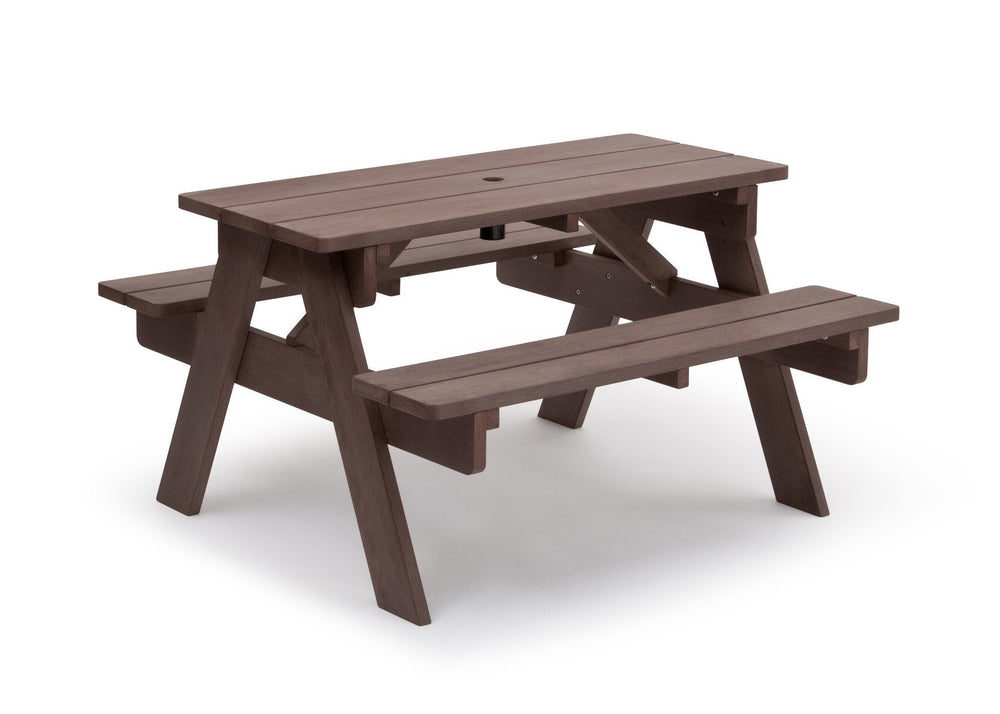Delta Children Dark Coffee (3001) Child's Picnic Table Right Side View a3a