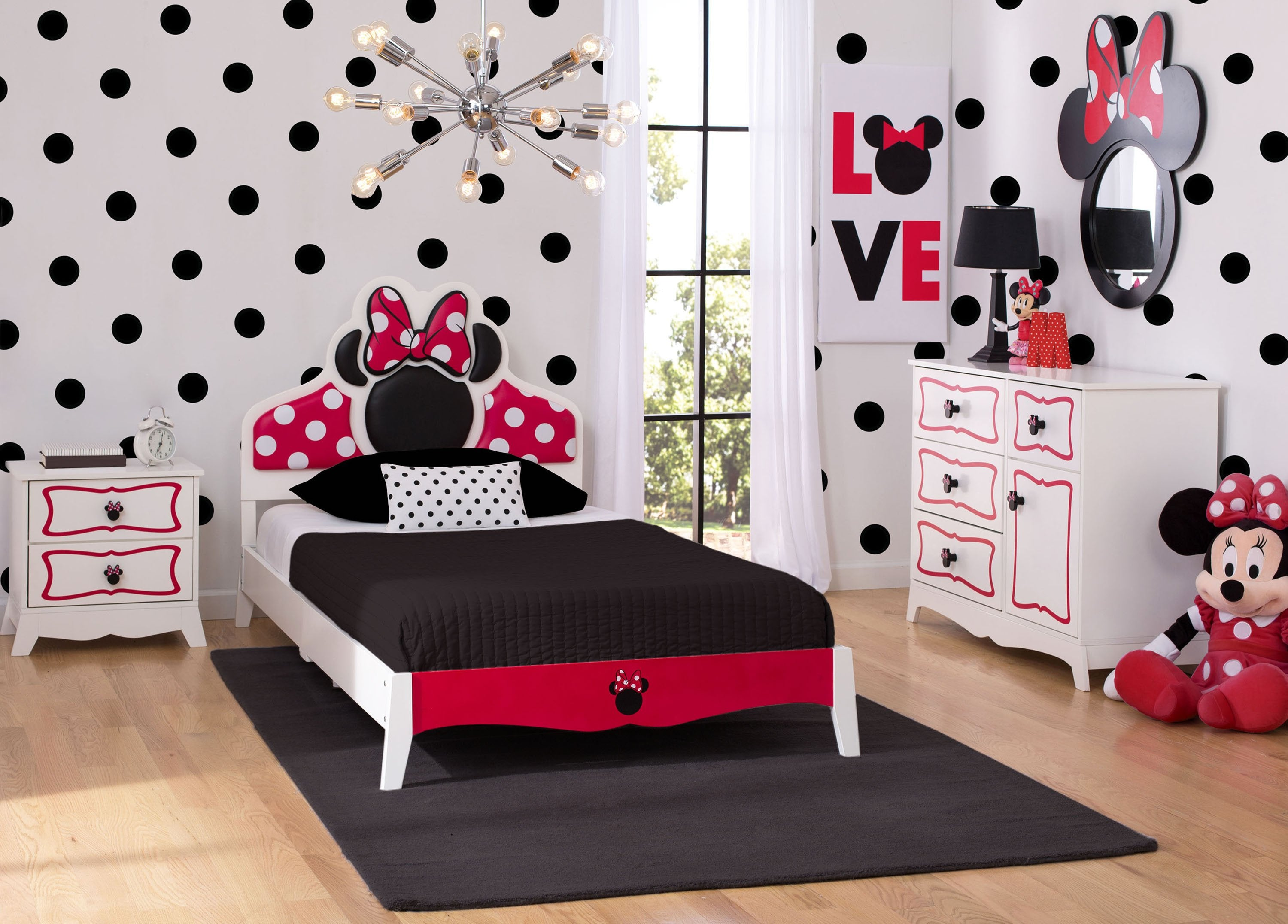 ... Minnie Mouse Wooden Twin Bedroom Collection (99447MN), Hangtag, A1a ...