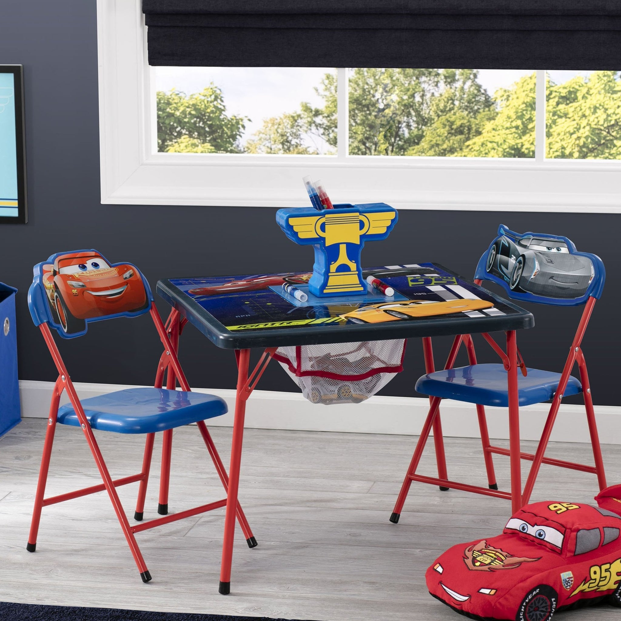 Delta Children Cars 1014 4-Piece Kids Furniture Set (99511CR), Hangtag, a1a
